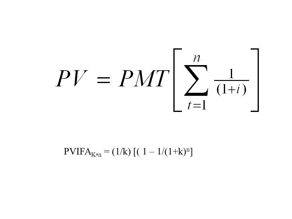 PVIFAK,n = (1/k) [( 1 – 1/(1+k)n]
